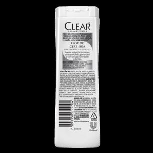 imagem de trás da embalagem Shampoo Anticaspa Flor de Cerejeira 200ml