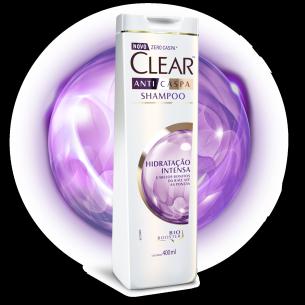 imagem de frente embalagem Shampoo Anticaspa Hidratação Intensa 400ml