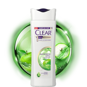 Shampo CLEAR Superfresh Apple 80 ml gambar depan kemasan