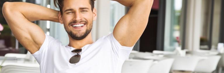 Уход за сухими мужскими волосами