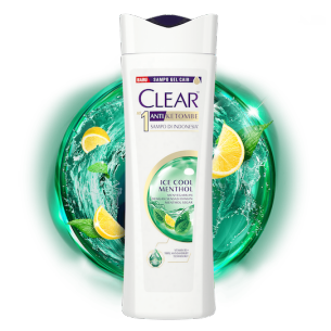Shampo CLEAR Ice Cool Menthol 80 ml gambar depan kemasan