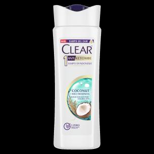 CLEAR shampo anti ketombe Coconut & Rice Freshness 160ml gambar depan kemasan