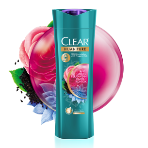 CLEAR Hijab Pure Shampo Anti-Ketombe & Anti-Rontok 160 ml gambar depan kemasan