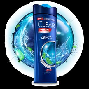 Shampo CLEAR MEN Cool Sport Menthol 80 ml gambar depan kemasan