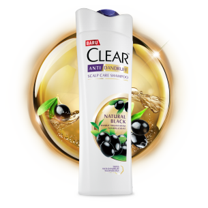 Shampo CLEAR Natural Black 160 ml gambar depan kemasan