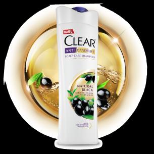 Shampo CLEAR Natural Black 160 ml gambar depan kemasan