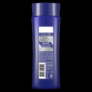 Back of shampoo pack Clear Cool Sport Menthol Anti-Dandruff Shampoo 170ml
