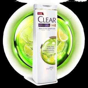 Clear Yağlı Saç Derisi İçin Etkin Kontrol550ml Etiket Ön Yüz