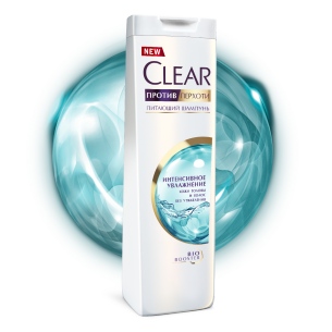 Front of shower pack Clear İntensiv Nəmləndirici Şampun 200ml
