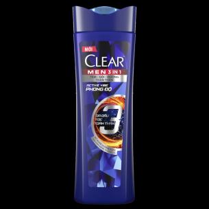 Hình ảnh mặt trước sản phẩm Dầu tắm gội CLEAR Men 3 Trong 1